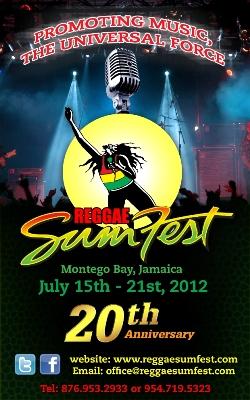 Reggae Sumfest  JULY 15-21,2012 -Montego Bay Jamaica