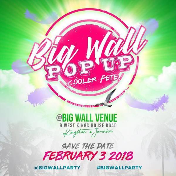 BIG WALL Pop up cooler fete