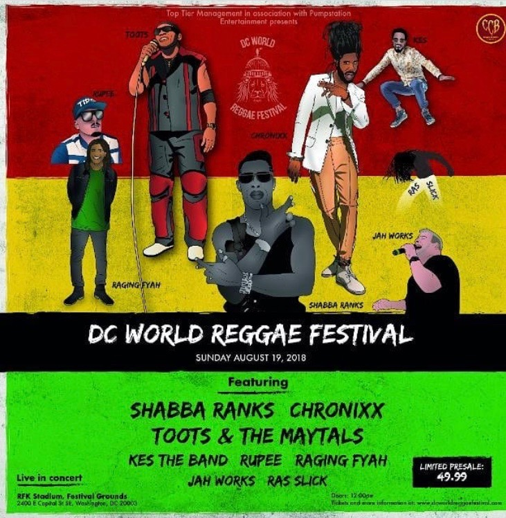 DC World Reggae Festival 2018