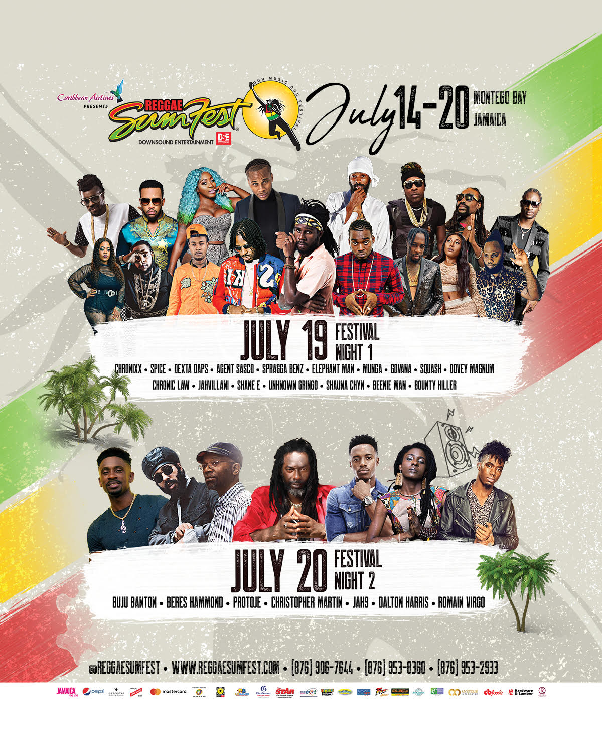 Sumfest 2K19 Schedule of Events!!!